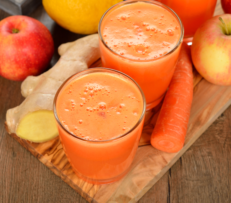 Carrot, Apple, Ginger, and Chia Seed Smoothie - Alexa Lane